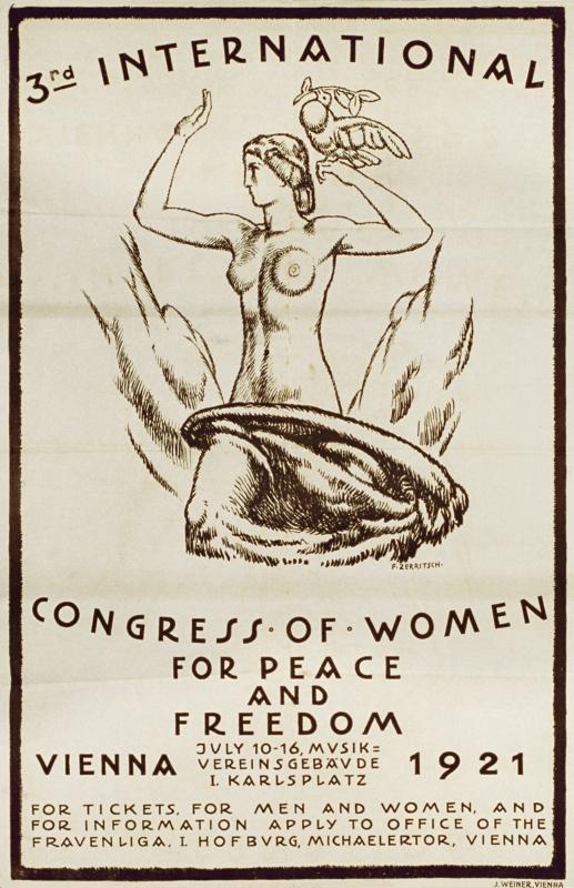 3. International Congress of Women for Peace and Freedom - Vienna 1921. (3. Internationaler Frauenkongress für Frieden und Freiheit), ÖNB Bildarchiv und Grafiksammlung