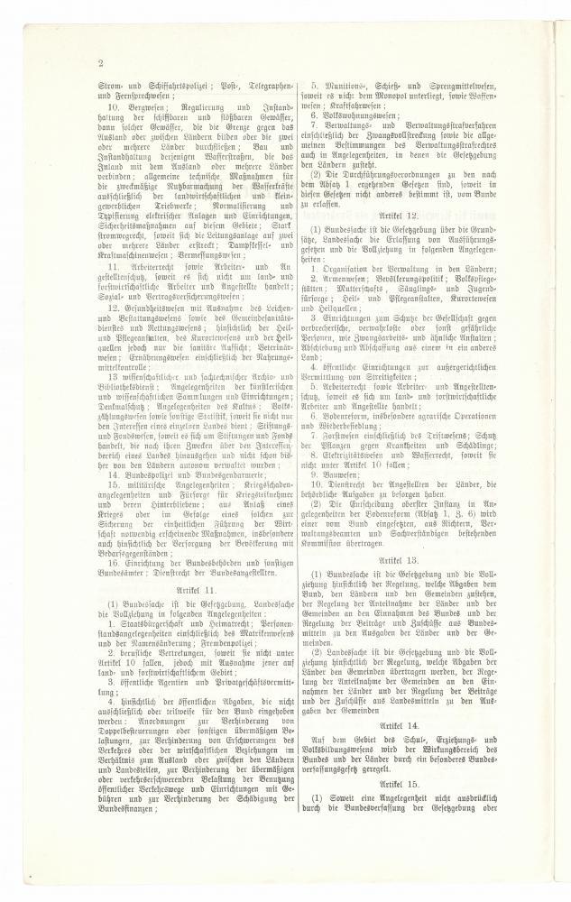 Seite 3 des Bundesverfassungsgesetzes vom 1.10.1920, Sonderabdruck der Wiener Zeitung, 5.10.1920