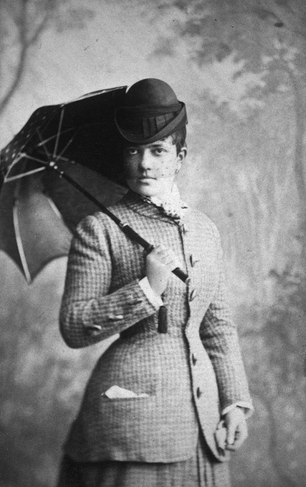 Die spätere Friedensnobelpreisträgerin Bertha von Suttner als unverheiratete Gräfin Kinsky, 1870